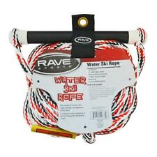 Water Ski Tow Rope 75 ft Strong Durable Rubber Grip Aluminum Handle Rave Sport