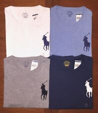 POLO RALPH LAUREN MENS BIG PONY T-SHIRT WHITE, BLUE, GRAY, NAVY M, L, XL, 4XB