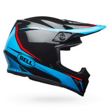 NEW BELL OFFROAD HELMET MOTOCROSS MX-9 MIPS GLOSS BLACK/CYAN/RED TORCH SIZE M