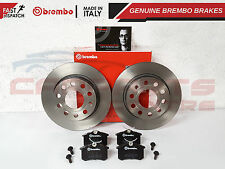 FOR AUDI TT MK1 225BHP FRONT VENTED BREMBO DISCS PADS SET 99-05