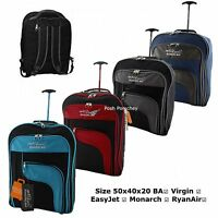 Lightweight Backpack Cabin Hand Luggage Suitcase Wheeled Trolley Travel Bag Case
