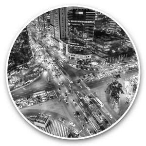 2 x Vinyl Stickers 7.5cm (bw) - Gangnam Seoul City South Korea  #35127