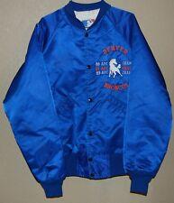 Vintage Denver Broncos Starter NFL Satin Snap Jacket Blue Size Small AFC Champs