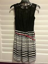 Be Darlin Black Lace Dress with Belt Size 5/6