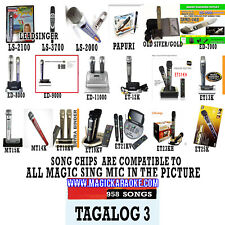 Magic Sing EnterTech Tagalog 3 song chip 958 songs Also compatible to ET23PRO