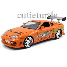 Jada Fast and Furious Brian's Toyota Supra 1:24 Diecast Model Car 97168 Orange
