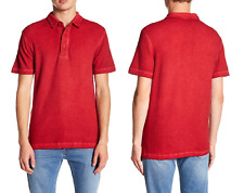 Gilded Age Textured Pigment Dyed Polo True Red Size 2XL