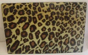 Leopard Print Glass Chopping Board