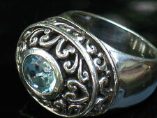 Ring In A Lucky Sz 9 Barse Studio Barse Heavy Sterling Blue Topaz