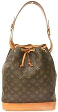 Auth LOUIS VUITTON Monogram Noe Drawstring Bucket Shoulder Bag M42224 France
