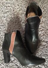 Mark Women's Size 10 Sideswipe Heel Botties Black Brown Line