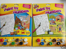 2 x Boys Paint By Numbers 2 Pack Farm /Space dinosaur / Sea Painting Paints
