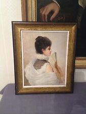 Haget,sarah Bernhardt,huile Sur Panneau,début XX°.