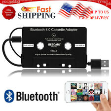 Black Wireless Bluetooth 4.0 Car Cassette Tape Adapter for Mp3 iPhone iPod Us