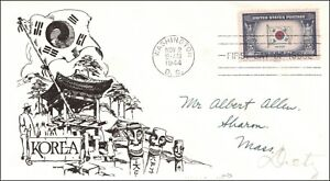 Saturday Night Special - Scott 921 5 Cents Korea Day Lowry FDC Addressed