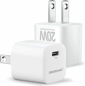 2X iPhone 12 Pro/11/12 Pro Max/XR/iPad Fast Charger 20W PD Power Adapter Type-C