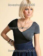 ASOS Plunge V neck Beach Grey Colour block BodySuit Leotard Costume TOP UK 10