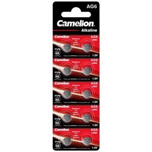 10x Knopfzelle AG6-LR69-LR920-371 Alkaline Uhrenbatterie von Camelion