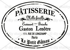 A5 OLD PARIS PATISSERIE DECAL SHABBY CHIC FRENCH IMAGE TRANSFER VINTAGE LABELS