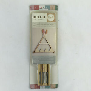 "American Crafts We R Memory Keepers Ruler Studio 9"" Folded Ruler Natural #660926"