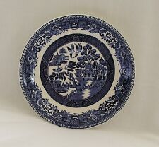 """Vtg. 1930's Alfred Meakin OLD WILLOW-BLUE (No Trim)  6"""" Saucer (Only)~ENGLAND"""