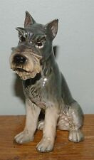 "Darling Goebel Schnauzer Dog China Figurine 5 1/8"" tall"