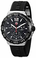 NEW MENS TAG HEUER (CAU1110.FT6024) FORMULA 1 BLACK DIAL RUBBER STRAP WATCH
