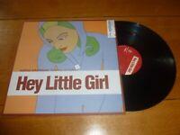 "MATHIAS SCHAFFHAUSER ft ROB TAYLOR - Hey Little Girl - 2002 2-track 12"" Single"