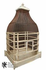 """43"""" Vintage Wooden Victorian Style Dome Top Bird Cage Primitive Architectural"""