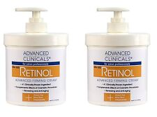 Advanced Clinicals Retinol Cream. Value Set- Two spa size 16oz bottles with p.