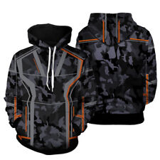 Marvel Iron Man Tony Stark Hoodies Avengers Infinity War Camouflage Coat Jacket