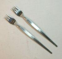 "Oneida Community Betty Crocker SATINIQUE *2 Cocktail Forks* 6"" Older Stainless"