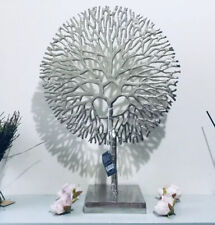 Ex Large Silver Tree of Life On Metal Base Home Decor Ornament shelf sitter 51cm