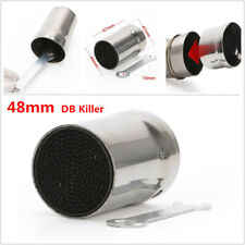 48mm Motorcycle Bikes Exhaust DB Killer Silencer Muffler Baffle Stainless Steel