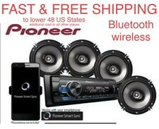FREE SHIPPING New Pioneer Car Stereo Bluetooth Digital Media Four 6.5