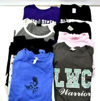 Women's Medium Various Styles & Brands Short Sleeve Graphic T-Shirts Lot of 8