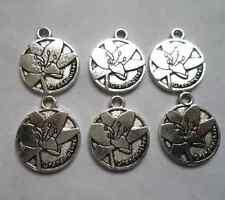 30 pcs Tibetan silver round flowers charms pendant  18x15  mm