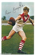 1971 Mobil Football Card (15 of 40) Peter BEDFORD South Melbourne Near MINT