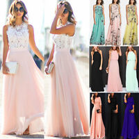 Ladies Summer Formal Maxi Lace Dress Cocktail Wedding Evening Party Long Dresses