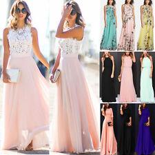 Women's Ladies Summer Formal Maxi Dress Wedding Evening Party Gown Long Dresses