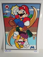 Super MarioWario Liminted Art Print Signed and Numbered by Artist 15/75