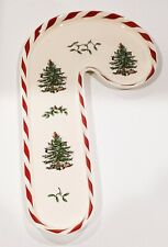 Spode Christmas Tree Peppermint Candy Cane Tray Serving Dish - New