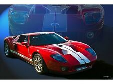 NEW Red Ford GT40 tin metal sign