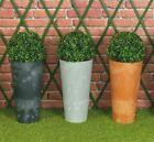 Concrete Effect Large Plant Pot Flower Outdoor Garden Planter Boxwood Buxus Ball