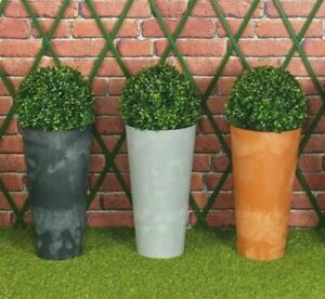 Concrete Effect Large Plant Pot Flower Outdoor Garden Planter Boxwood Buxus Ball