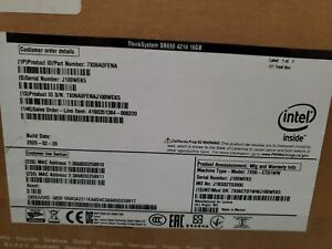 7X06A0FENA - ThinkSystem SR650, 1x Intel Xeon Silver 4214 12C 2.2GHz 85W, 1x16GB