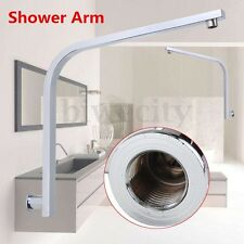 Rainfall Square Gooseneck Bath Shower Arm Wall Mount Hanging Rack Water Tube