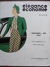 CATALOGUE MODE ELEGANCE ECONOMIE 1938