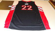 NBA Toronto Raptors Rudy Gay Black Youth XL Adidas Basketball Jersey Swingman