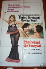 OWL and the PUSSYCAT Barb Streisand Folded Movie Poster